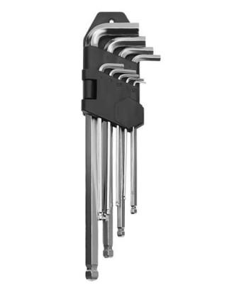 """""""Allen"""" tipo raktų komplektas 9vnt. 1.5-10mm 7063"""