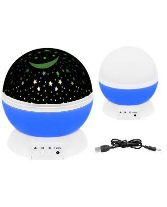 Naktinė lempa/ žvaigždžių projektorius 3 funkcijos  USB 5764