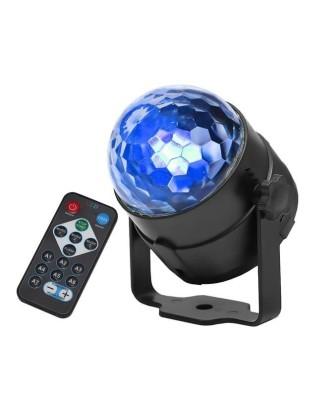 Disco kamuolys LED RGB 7 režimai + nuotolinio valdymo pultas 360° 7056