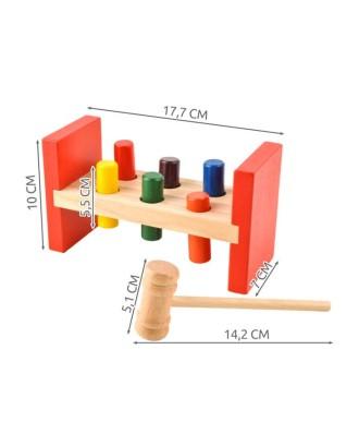 Mediniai blokai su plaktuku 7708