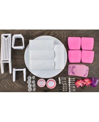 Valgomojo baldai lėlėms+Stalo įrankiai 47elem. 8248