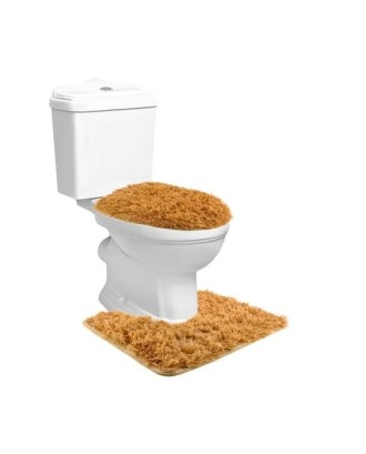 3 minkštų rudų vonios kilimėlių rinkinys # 8313