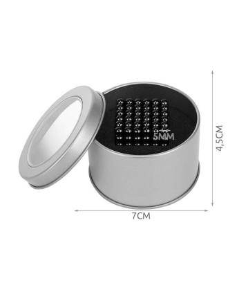 Magnetiniai rutuliai 216 vnt. 5mm - juoda