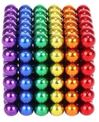 Rutuliniai magnetiniai blokai 216vnt 3mm vaivorykštė + dėžutė