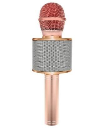 """Belaidis karaokes mikrofonas """"Bluetooth"""" garsiakalbis 4 šviesiai rožinis 9002"""