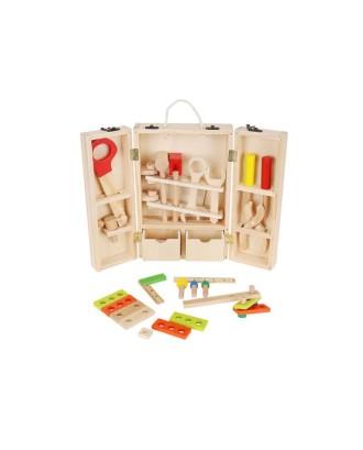 Mediniai įrankiai + dėžė vaikams 9367