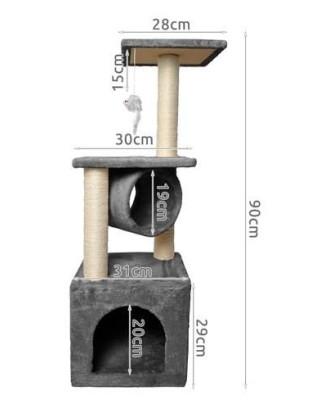 Kačių bokštas-draskyklė 90cm Sisal 9480