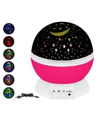 """Besisukantis naktinis šviestuvas """"Sky Star"""" projektorius 360st 8974"""