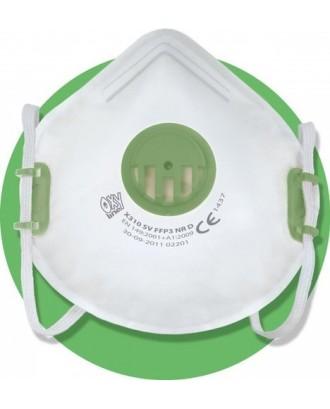Kvėpavimo kaukė FFP3 su vožtuvu. Apsauginė kaukė maksimaliai apsaugo nuo pavojingų dulkių 10622
