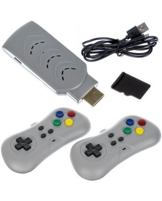 HDMI konsolė su 200 žymių retro žaidimų + 2 valdikliai