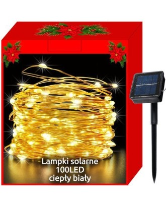 Kalėdinės saulės šviesos - 100LED laidai, balti