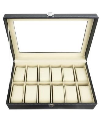 12 skyrių laikrodžių/papuošalų dėžutė