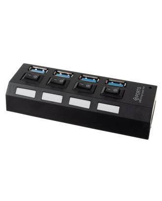 Hub USB - 4 porty USB 3.0