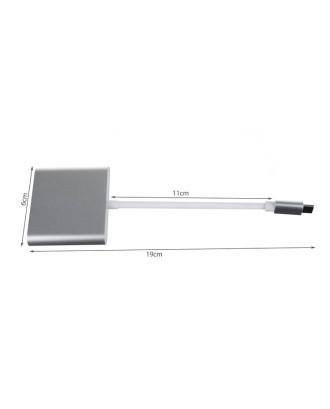 Adapteris - 3in1 adapteris (HUB USB-C HDMI)