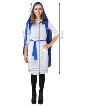 Šventosios Mergelės Marijos kostiumas - 2in1 vaikams ir suaugusiems # 4777