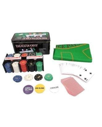 Poker Texas žaidimų rinkinio dėžutė