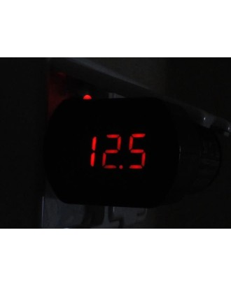 Voltmetras Automobilinis Matuoklis 12V 24V