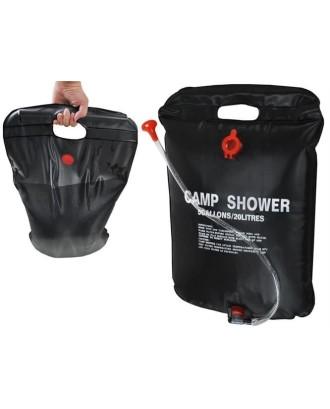 Kempingo dušas 20L • Saulės dušas • Vandens šildytuvas 60 x 40 cm • 400 g # 1168