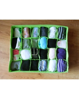Apatinių drabužių ar kojinių laikymo dėklas 24 skyriai