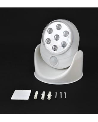 Belaidė 7 LED lemputė su judesio jutikliu. Lauko ir vidaus apšvietimas # 1319